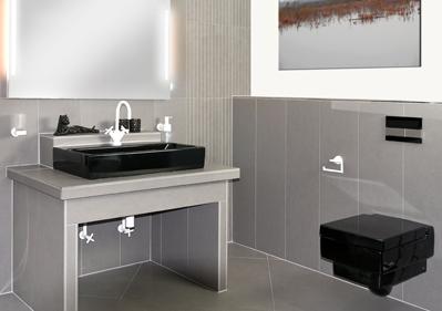 Fertigbad grau schwarz toilette